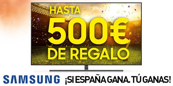 """Compra un Samsung QLED TV de 65"""" o más y gana dinero desde el primer partido de España"""