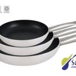 Set de 3 sartenes de aluminio prensado San Ignacio Professional Chef Platinum para todo tipo de cocinas baratas en Amazon