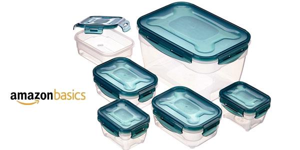 Set almacenamiento de comida AmazonBasics de 6 unidades barato en Amazon