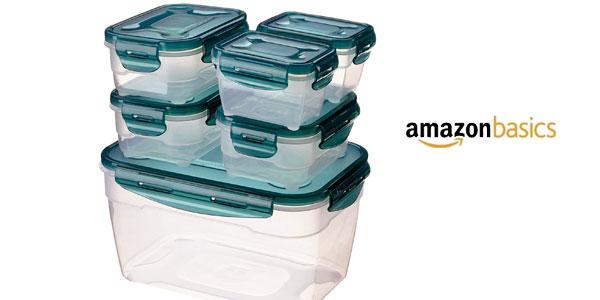 Set almacenamiento de comida AmazonBasics de 6 unidades chollo en Amazon