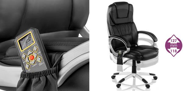 silla confortable y acolchada regulable en altura con masaje para la espalda y genial relación calidad-precio