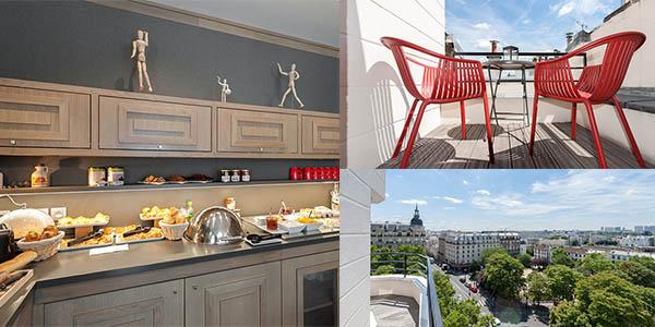 viaje a París en primavera-verano hotel boutique céntrico barato