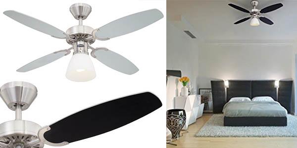 Chollazo ventilador de techo westinghouse capitol con l mpara por s lo 59 02 con env o gratis - Lampara de techo con ventilador ...