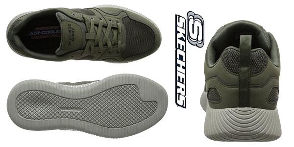 Zapatillas Skechers Depth Charge-Eaddy en color verde oliva para hombre chollo en Amazon