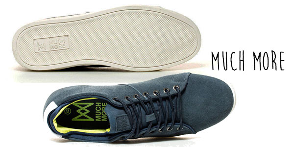 Zapatillas de piel Much More Budy en color azul navy para hombre chollo en eBay