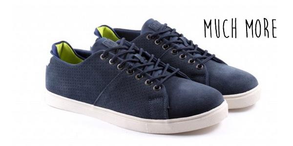Zapatillas de piel Much More Budy en color azul navy para hombre baratas en eBay