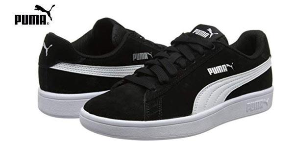 Zapatillas Puma Smash V2 en color negro baratas en Amazon