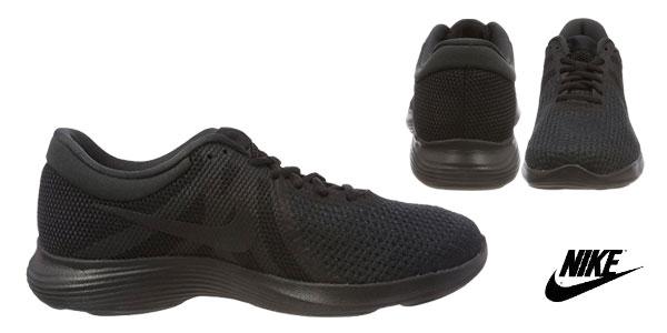 Zapatillas running Nike Wmns Revolution 4 EU en color negro para mujer chollo en Amazon