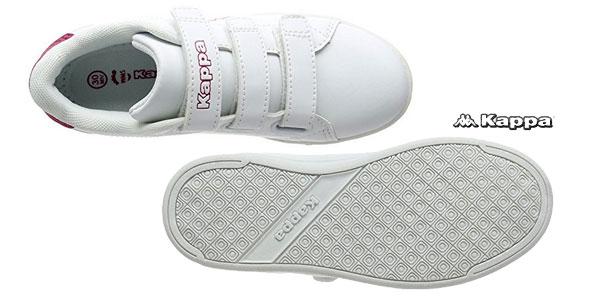 Zapatillas unisex Kappa Court en color blanco y rojo para niñ@s chollo en Amazon