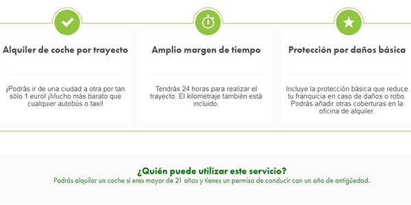 alquilar coche en Europcar con promoción especial