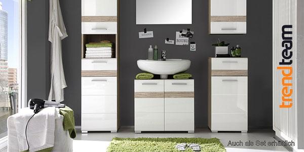 Mueble para debajo del lavabo Trendteam 133630196 Set One en Roble y blanco chollazo en Amazon