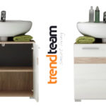 Mueble para debajo del lavabo Trendteam 133630196 Set One en Roble y blanco barato en Amazon