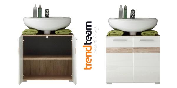 Mueble para debajo del lavabo Trendteam 133630196 Set One en Roble y blanco barato en Amazon