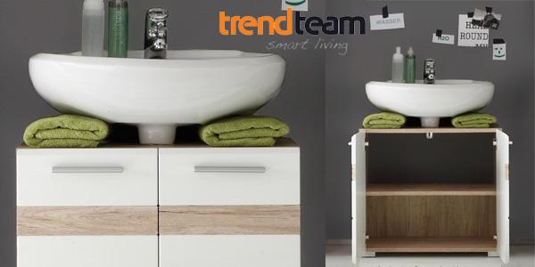 Mueble para debajo del lavabo Trendteam 133630196 Set One en Roble y blanco chollo en Amazon