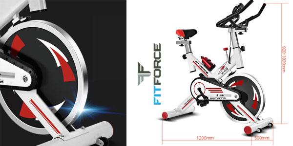 Bicicleta estática Fit-Force X24KG con volante de inercia de 24kg chollo en  eBay 8175b8023e170