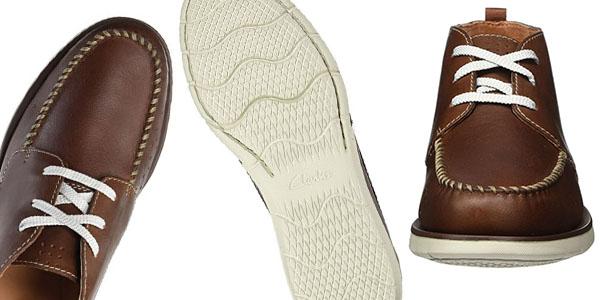 botas Clarks Edgewood Mid de diseño casual y tejido en cuero oferta