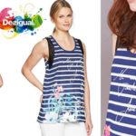 Camiseta Desigual Clementine sin mangas para mujer barata