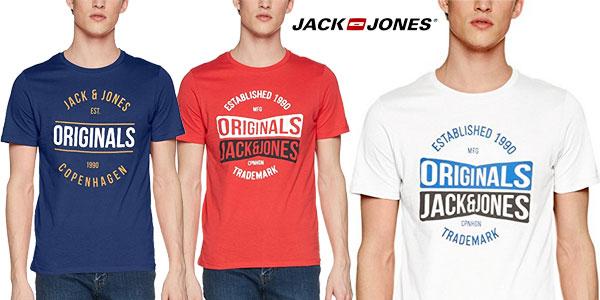 Camiseta JACK & JONES Jormusai de manga corta en varios colores para hombre chollo en Amazon