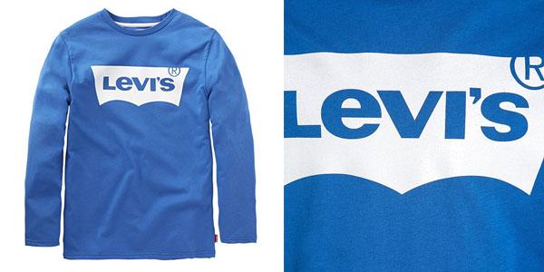 66ca89f85 Camiseta Levi s N91005H en color azul en tallas infantiles chollo en Amazon