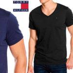 Camiseta Tommy Hilfiger Original V-Neck de manga corta y cuello de pico para hombre barata