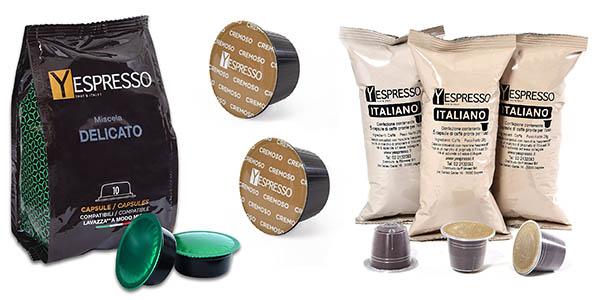 cápsulas café Yespresso compatibles con Nespresso y Dolce Gusto baratas
