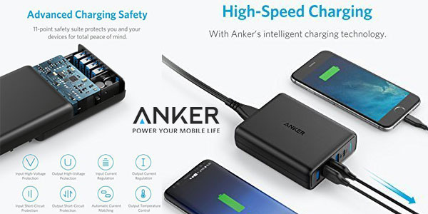Cargador USB Anker Power Port C de 5 puertos hasta 60W chollazo en Amazon