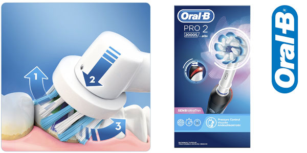 Cepillo de dientes eléctrico recargable Oral-B Pro 2 2000S chollo en Amazon b41e9e51806d
