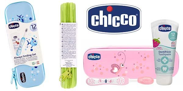 Chicco neceser con cepillo y pasta de dientes para bebés barato