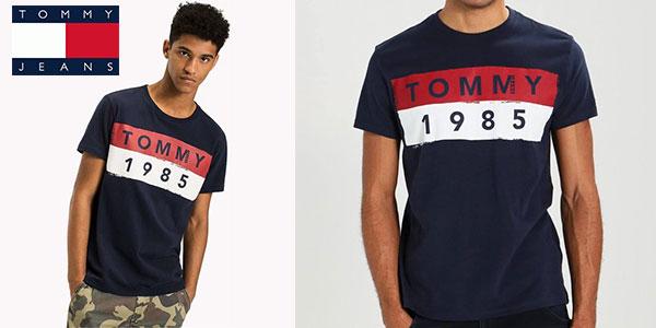 Chollo Camiseta estampada de algodón Tommy Jeans 1985 para hombre
