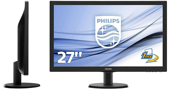 Chollo Monitor Philips 273V5LHAB con resolución Full HD
