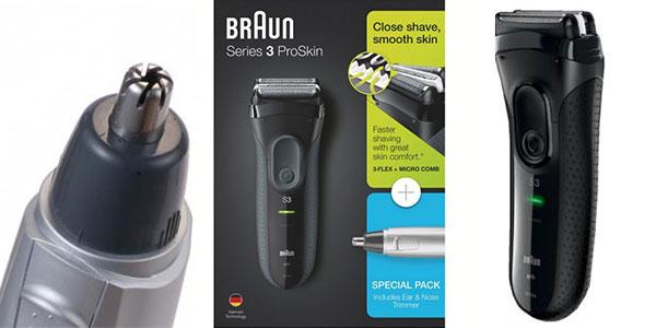 Chollo Pack Afeitadora Braun Pro Skin 3000 + Naricero EN10