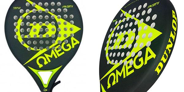 Chollo Pala de pádel Dunlop Omega en colores amarillo y negro para principiantes