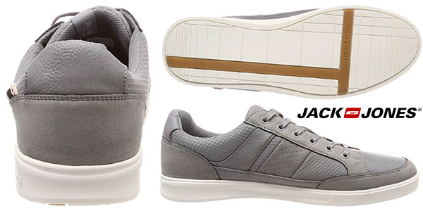 Chollo Zapatillas de estilo casual Jack & Jones Jfwrayne Mix de color gris para hombre