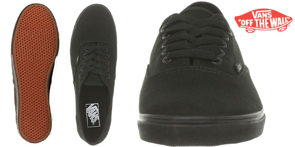 Chollo Zapatillas de lona unisex de tipo skate Vans Authentic Lo Pro de color negro
