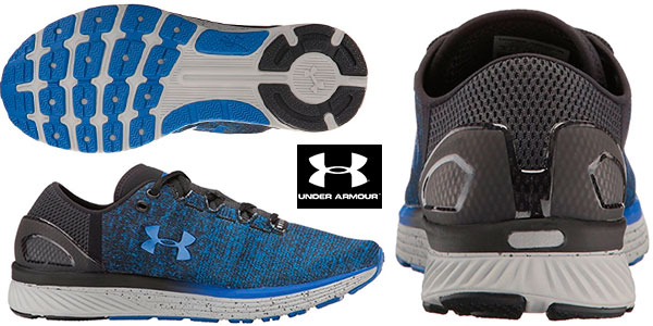 Chollo Zapatillas de running Under Armour UA Charged Bandit 3 de color azul para hombre
