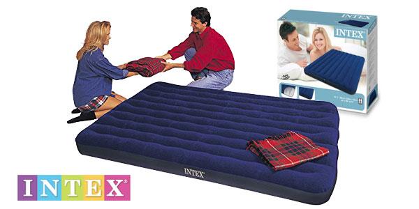 Colchón hinchable doble Intex Classic Downy 68759 de 150 x 200 cm chollo en Amazon
