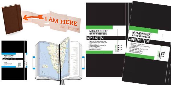 cuadernos Moleskine Berlín París Londres con mapas de la ciudad chollo