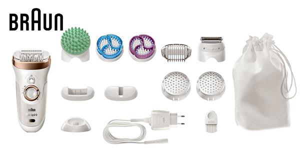 Depiladora eléctrica Braun Silk-épil 9 SkinSpa 9-961V Wet & dry Beauty Set chollo en Amazon