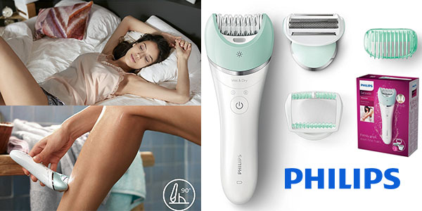 Depiladora Philips Satinelle Advanced BRE620 Wet&Dry recargable barata