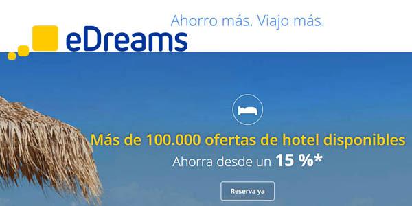 eDreams ofertas y descuentos en viajes y vuelos verano 2018
