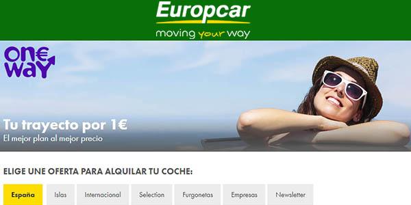Europcar One Way coche de alquiler por 1€