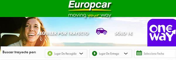 Europcar One Way Promoción coches de alquiler en España