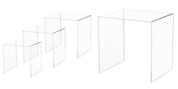 funcional conjunto de mesas nido en acrílico oferta