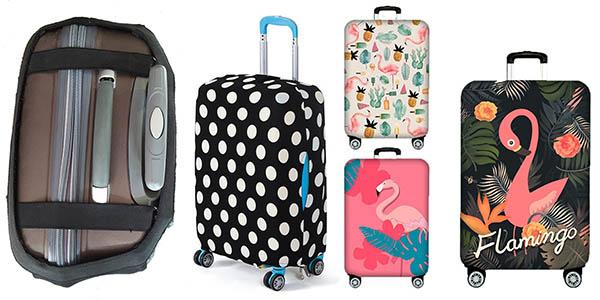 fundas ajustables de diferentes diseños para equipaje chollos