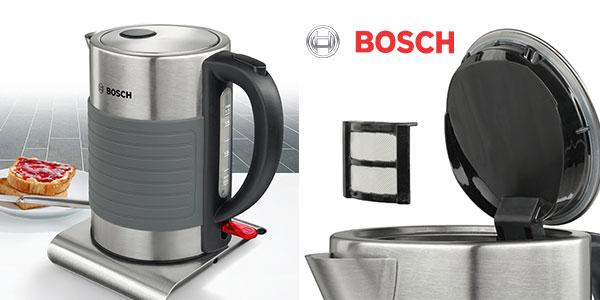 Hervidor de agua Bosch TWK7S05 de acero inoxidable y 2200 W barato
