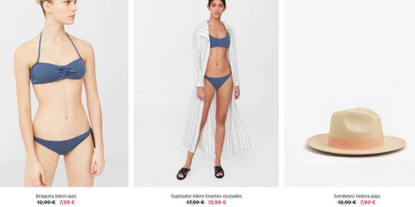 Mango Outlet moda y complementos de baño ofertas de verano 2018