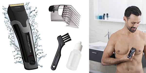 máquina cortapelos para cabeza y cuerpo con cuchilla de titanio chollo
