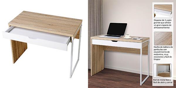 Chollazo mesa de ordenador y escritorio con caj n grande for Mesa escritorio barata