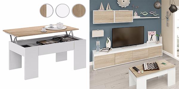 mesa de salón con sobre elevable Duehome de gran relación calidad-precio