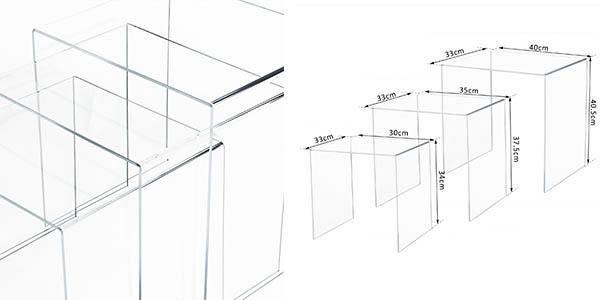 mesitas de salón transparentes con genial relación calidad-precio